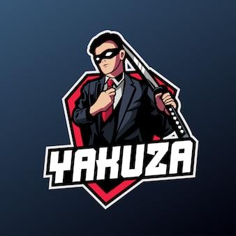 Yakuza-maskottchen für sport- und esport-logo