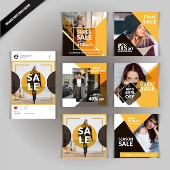 Yellow fashion social media post für digitales marketing