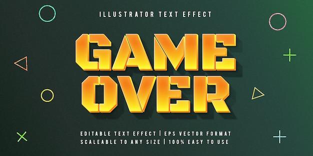 Yellow gaming lebendiger textstil-schrifteffekt