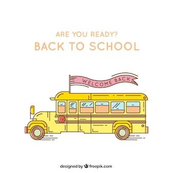 Yellow gelehrter bus