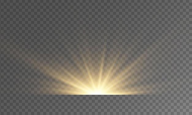 Yellow star burst funkelt glow lichteffekt funken flare explosion starlight lens flares strahlen bokeh