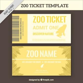Yellow zoo-ticket banner