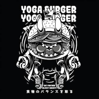 Yoga burger black n white