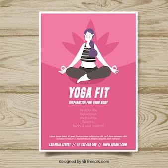 Yoga-cover-vorlage