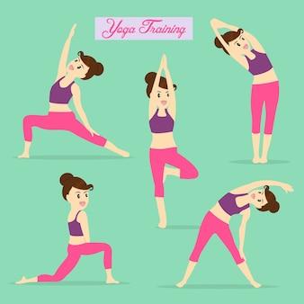 Yoga-element für das tägliche training.