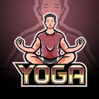 Yoga-esport-logo-maskottchen-design