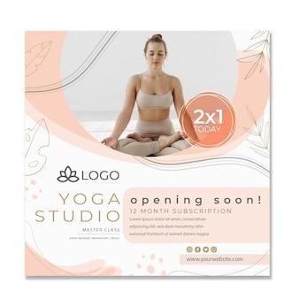 Yoga-flyer-vorlage mit foto