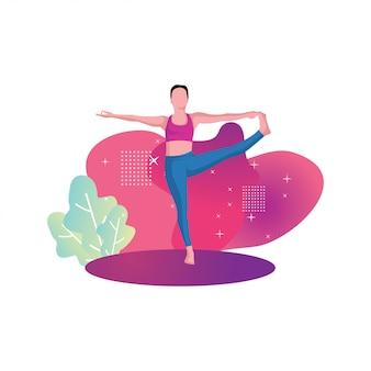Yoga frau für fitness