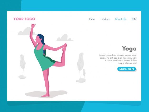 Yoga-illustration für landingpage