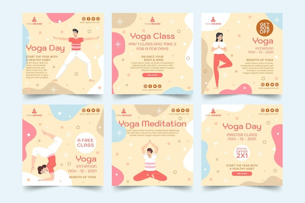 Yoga-instagram-beiträge
