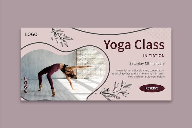 Yoga klasse banner vorlage