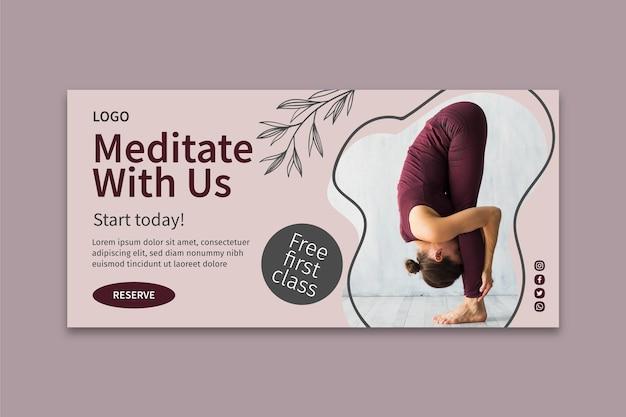 Yoga klasse vorlage banner