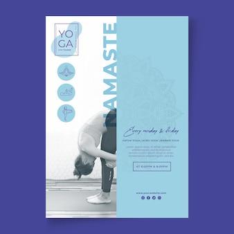 Yoga klassen poster vorlage