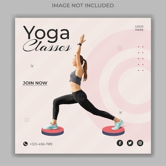 Yoga-klassen-social-media-banner-vorlage
