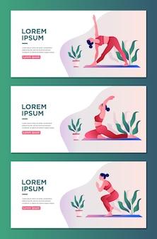 Yoga-kurs-landing-page-design-webseitenvorlage für yoga-studio