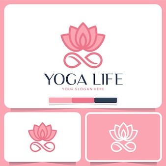 Yoga-lebensvorlage, lotusblume, logo-design-inspiration