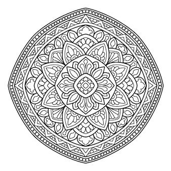 Yoga mandala design, malvorlagen für erwachsene oder t-shirt design
