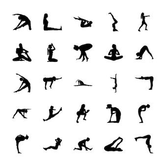 Yoga-piktogramm-symbole
