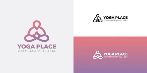 Yoga platz pin-logo-symbol