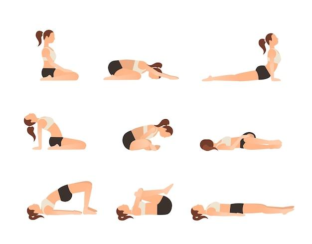 Yoga posiert für einen besseren schlaf.