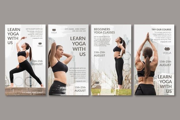 Yoga social media geschichten