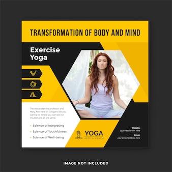 Yoga-social-media-post und yoga-training instagram-banner