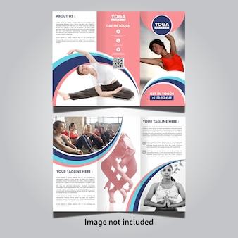 Yoga trifold broschüren vorlage