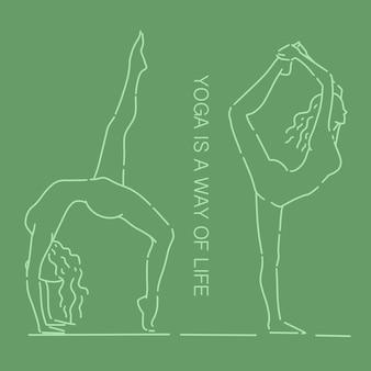 Yoga-übungen stellt
