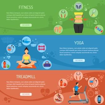 Yoga und fitness horizontal