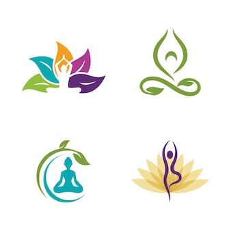 Yoga-vektor-icon-design-darstellung vorlage