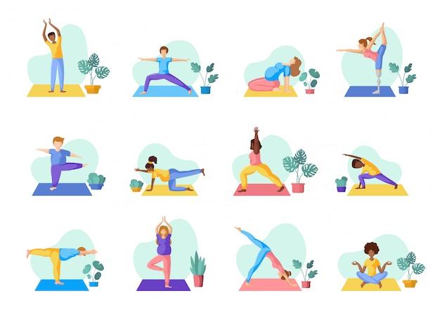 Yoga verschiedene leute