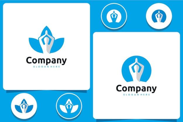 Yoga-vorlage, logo-design-inspiration