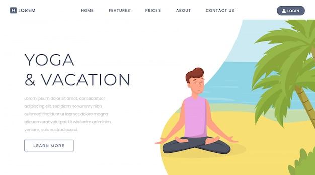 Yoga während der ferienwebsite