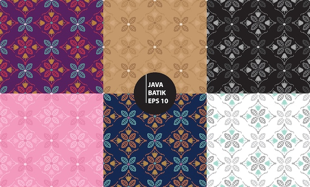 Yogyakarta java indonesien traditionelle batik erbe nahtlose hintergrundmuster