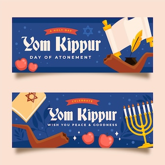 Yom kippur banner pack