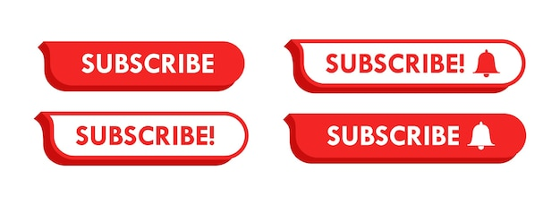 Youtube abonnieren button set