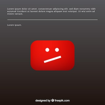 Youtube-Fehlermeldung mit flachem Design