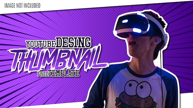 Youtube hintergrund thumbnail design vorlage