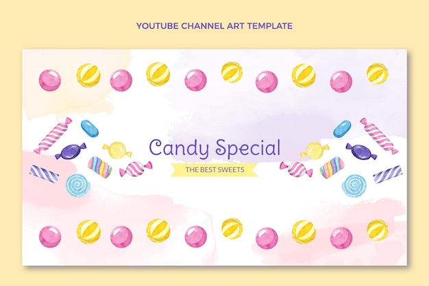 Youtube-kanal für aquarell-lebensmittel