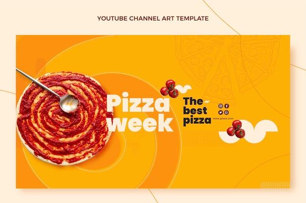 Youtube-kanal für flaches essen Kostenlosen Vektoren