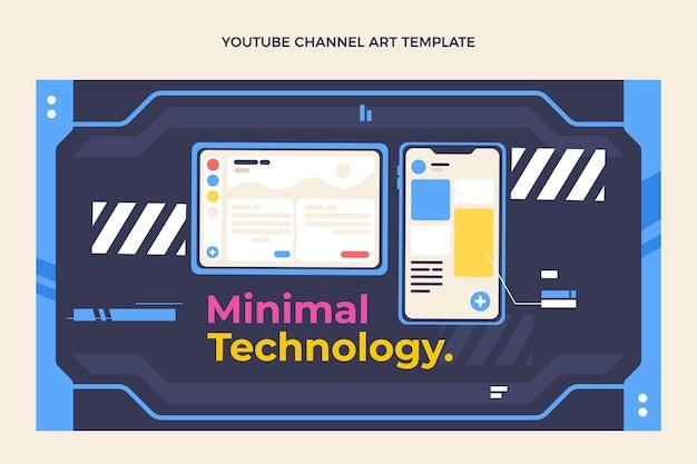 Youtube-kanal mit flachem design und minimaler technologie