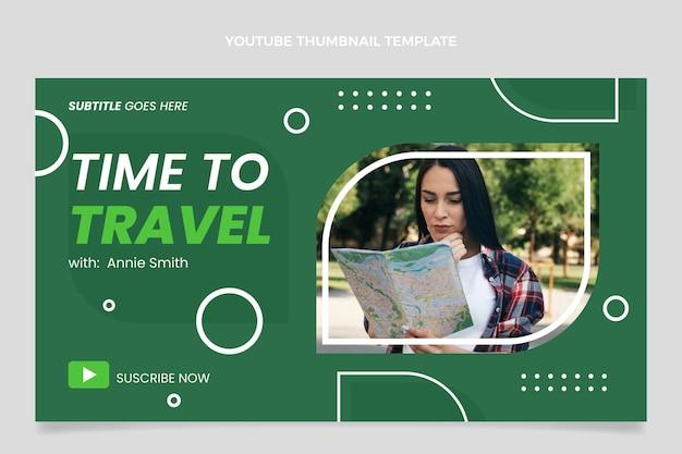 Youtube-miniaturansicht für reisen im flachen design