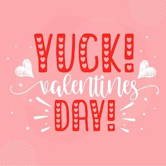 Yuck valentinstag schriftzug valentine premium vector design