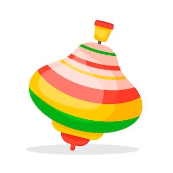 Yula kinderspielzeugsymbol isoliert auf weißem hintergrund für ihr design