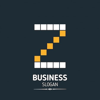 Z brief logo business template pixelated vector icon