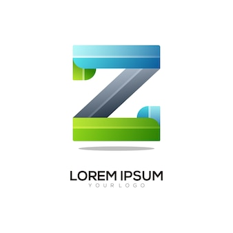 Z-buchstaben-logo bunte farbverlaufsillustration