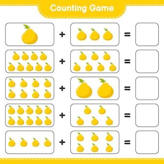 Zähle das spiel, zähle die anzahl der ugli und schreibe das ergebnis.