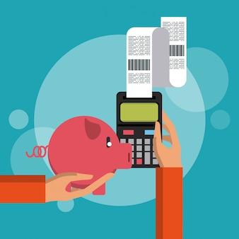 Zählen von geld und ersparnissen