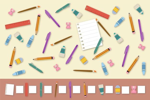 Zählspiel mit schreibtischgegenständen