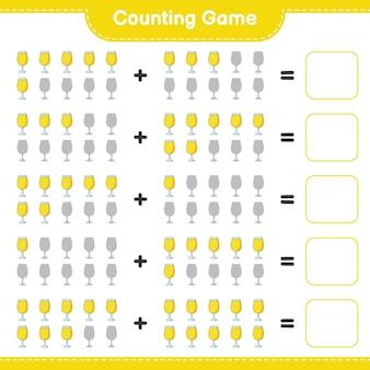 Zählspiel zähle die anzahl der cocktails und schreibe das ergebnis lernspiel für kinder